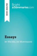 Essays by Michel de Montaigne  Book Analysis
