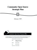 Community Open Source Strategic Plan