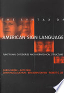 The Syntax Of American Sign Language PDF