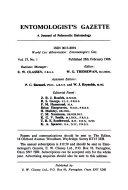 Entomologist s Gazette