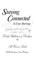 Staying Connected in Your Marriage Book