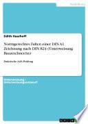 Normgerechtes Falten einer DIN A1 Zeichnung nach DIN 824 (Unterweisung Bauzeichner/in)