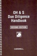 OH and S Due Diligence Handbook Book