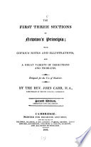 The first three sections of Newton's Principia. With notes and illustr. by J. Carr Pdf/ePub eBook