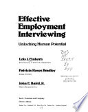 Effective Employment Interviewing