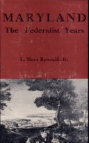 Maryland  the Federalist Years