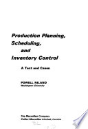 Production Planning, Scheduling, and Inventory Control