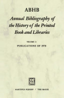 ABHB Annual Bibliography of the History of the Printed Book and Libraries Pdf/ePub eBook