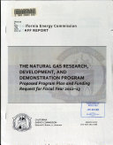 The Natural Gas Research  Development and Demonstration Program