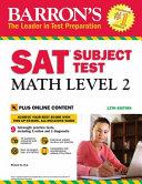 Barron s SAT Subject Test  Math Level 2  13th Edition Book