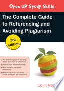 EBOOK  The Complete Guide to Referencing and Avoiding Plagiarism