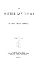 The Scottish Law Review and Sheriff Court Reports
