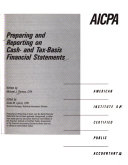 Preparing and Reporting on Cash  and Tax basis Financial Statements