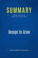 Summary: Design to Grow Pdf/ePub eBook