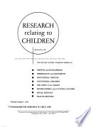 Research Relating to Children