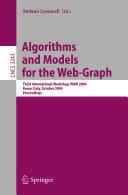 Algorithms and Models for the Web-Graph Pdf/ePub eBook