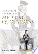 Oxford Dictionary Of Medical Quotations Book PDF