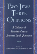 Two Jews  Three Opinions