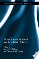 Ethical Practice of Social Media in Public Relations