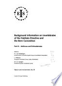 Background Information on Invertebrates of the Habitats Directive and the Bern Convention