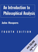 An Introduction to Philosophical Analysis