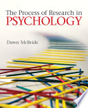 The Process of Research in Psychology Book