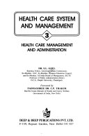 Health Care System And Management Health Care Management And Administration Book PDF