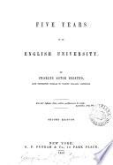 Five Years in an English University Book PDF