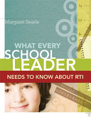 What Every School Leader Needs to Know About RTI Pdf/ePub eBook