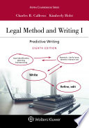 Legal Method And Writing I