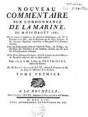 Nouveau commentaire sur l'ordonnance de la marine, du mois d'août 1681 :oû se trouve la Conférence des anciennes Ordonnances, (...)