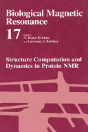 Structure Computation and Dynamics in Protein NMR