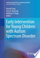Early Intervention For Young Children With Autism Spectrum Disorder Book PDF