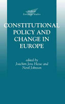 Constitutional Policy And Change In Europe