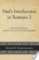 Paul S Interlocutor In Romans 2