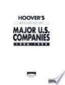 Hoover's Masterlist of Major U. S. Companies, 1998-1999