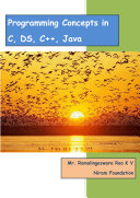Programming Concepts in C  DS  C    Java