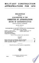 Military Construction Appropriations for 1979