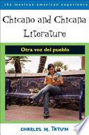Chicano And Chicana Literature