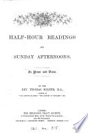 Half hour readings for Sunday afternoons