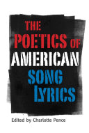 The Poetics of American Song Lyrics Pdf/ePub eBook