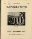 Piccadilly Notes