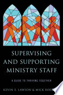 Supervising and Supporting Ministry Staff