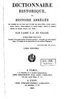 Dictionnaire historique, ou Histoire abrégée des hommes qui se sont fait un nom ...