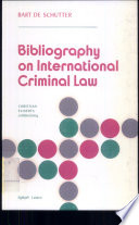 Bibliography on International Criminal Law By