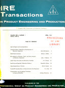 IRE Transactions on Product Engineering and Production