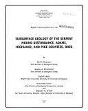 Subsurface Geology of the Serpent Mound Disturbance, Adams, Highland, and Pike Counties, Ohio