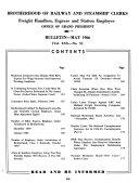 Brotherhood of Railway Clerks Bulletin
