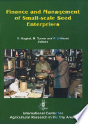 Finance And Management Of Small Scale Seed Enterprises