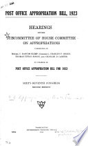 Post Office Appropriation Bill  1923